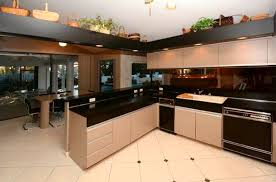 1980s Kitchen With Black Appliances