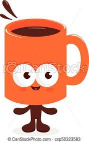 Happy Coffee Mug Character