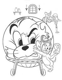 Download Tom And Jerry With A Wizard Coloring Page Or Print