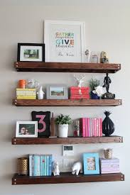 DIY Floating Shelves Made From Old Pallets But Paint Orange