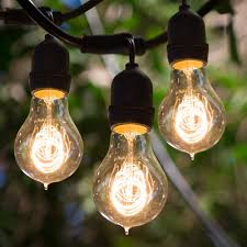 bulbrite string15 e26 a19kt 48 ft outdoor string light with