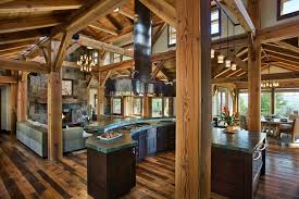 Great Room Kitchen And Dining Areas Open Floor Plan Steamboat Storm Meadow Dr