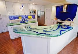 100 Kitchen Glass Countertop Custom S Beautiful Artwork By Downing Designs