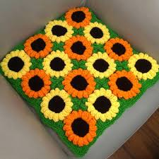 Decorative Cushioned Kitchen Floor Mats by Handmade Cushion Sunflower Hook Needle Mat Decoration Yarn Table