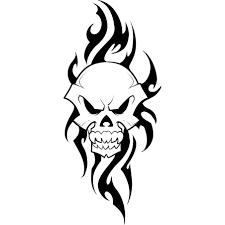 Dangerous Tribal Skull Tattoo Sample