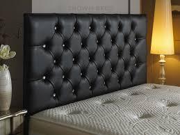 innovative brown leather headboard king size elegance sleeping