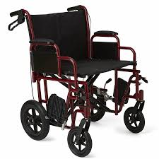 Medline Bariatric Transport Chair With 12