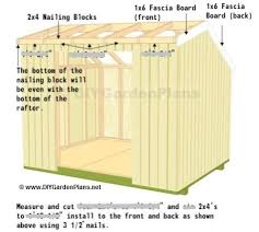 fascia and soffit saltbox shed plans page 10