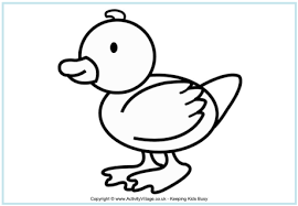 Duckling Coloring Page 14 Duck Colouring