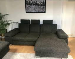 ecksofa stoff grau braun anthrazit 260cm breit sofa