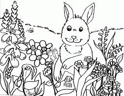 Kids Spring Coloring Pages