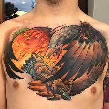 Eagle Chest Tattoo