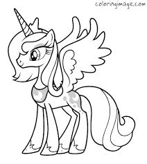 My Little Pony Coloring Page Princess Luna