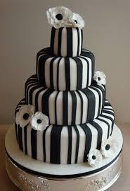 Black White Flowers = A Beautiful Wedding Cake
