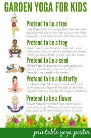 Garden Yoga For Kids Free Printable Poster