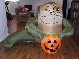 Halloween Yard Inflatables by Upcoming Inflatable Jabba The Hutt Halloween Lawn Decoration By