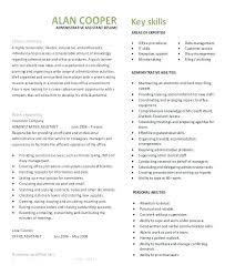 Resume Sample Administrative Assistant Amazing Admin Examples