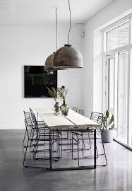 white villa coco lapine design minimalistische esszimmer