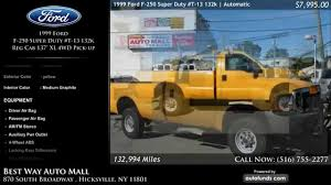1999 Ford F-250 Super Duty USED TRUCKS HICKSVILLE NY, LEVITTOWN NY ... 2005 Chevrolet Equinox Gmcenvoy Used Suvs Hicksville Ny 11801 Used Pickup Trucks June 2017 Dealer Offers Amazing Long Island Cars New 2019 Dodge Charger For Sale Near York Drivers Find Trucks For Sale Suvs Browns Cdjr In Patchogue Near Bellport General Vehicle Company Archives Chucks Toyland 1973 Buick Riviera Boat Tail At Webe Autos Serving Of Huntington Trarsautomotive Mo Missouri Ballwin Dealership 1951 Hudson Commodore Super 6 For Sale
