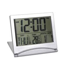horloge de bureau design alarme horloge calendrier affichage date heure température pliant