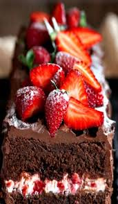 Chocolate Cake with Strawberry Cream Cheese Filling Salted Lemons Dessert Recipes Pinterest
