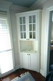 White Corner Cabinet Dining Room China Hutch Throughout