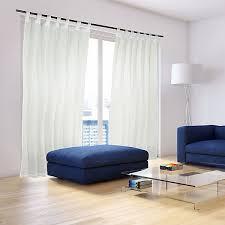 2 x vorhänge mit schlaufen store faltenvorhang gardinenschal vorhang creme beige relaxdays