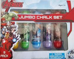 Amazon.com: Marvel Avengers Jumbo Chalk Set - 5 Pack: Toys & Games