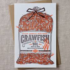 Pinterest Crawfish Boil Decorations by Paper Plates Press Letterpress Design House Time To Sack Up
