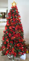 Flocking Christmas Tree Kit by Pictures Of Red And White Decorated Christmas Trees Fascinating On