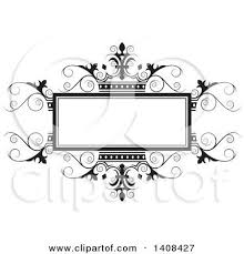 Nice Wedding Swirl Designs Clipart Ornate Gold And Crown Frame Royalty Free