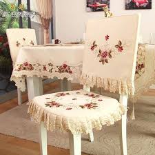 Ty218 Fashion Embroidered Rustic Dining Table Fabric Chair Cover Thickend Cushion Backrest Covers Comfortable Customizeloose Room
