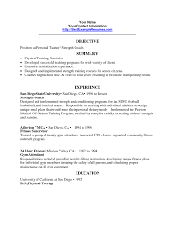 Bunch Ideas Of Fitness Club Resume Objective Personal Trainer Sample Gallery