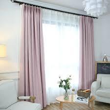 unifarbe vorhang minimalismus rosa aus leinen und polyester