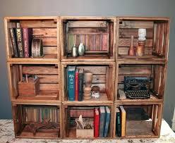 Reclaimed Wood Bookcase Bookshelf 9 Handmade Crates Bookshelves