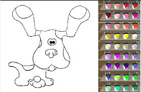 Blues Clues Coloring Games Online