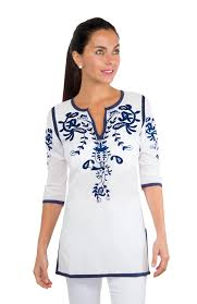 dippy cotton embroidered tunic