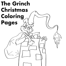 Coloring Pages Grinch Christmas Printable In Story