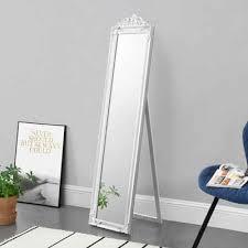 en casa standspiegel arezzo ganzkörperspiegel kippbar 160x40cm weiß