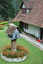 Tudor Style Bird House Replicating The Main Home On Property Is