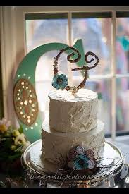 Letter G Rustic Twig Wedding Cake Topper