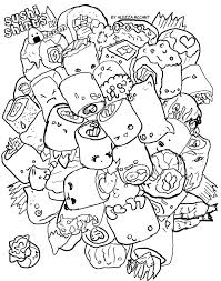 18 Kawaii Sushi Coloring Pages