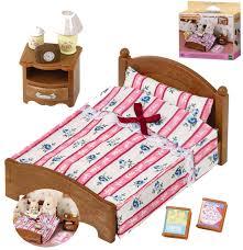 sylvanian families möbelset doppelbett für elternschlafzimmer