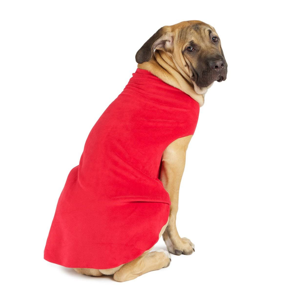 Gold Paw Stretch Fleece Dog Coat - Red Size 20 / Red