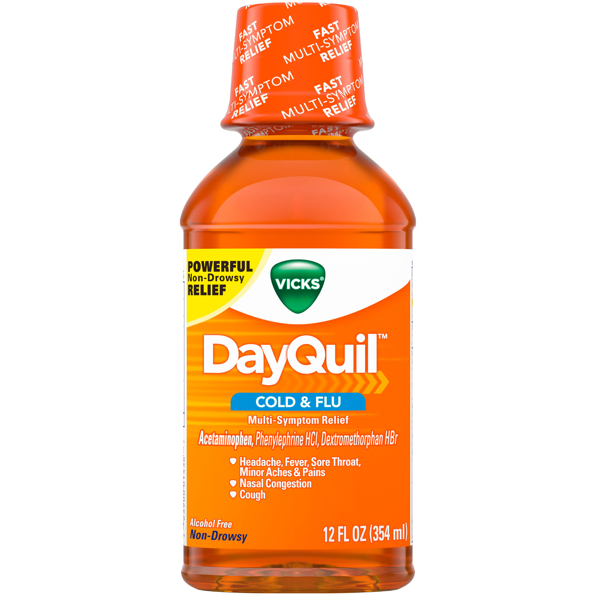 Vicks DayQuil Cold and Flu Medicine - 12oz