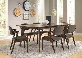 Coaster Malone Mid-century Modern Casual Dining Table Set In Dark Walnut