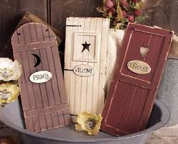 Outhouse Themed Bathroom Accessories by Outhouse Doors Signs Bathroom Wall Decor Set Of 3 Welcome