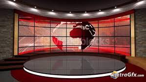 News TV Studio Set 43