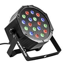 Eyourlife 18X3W Led Par Can Disco lights 54W RGB PAR64 DMX 512