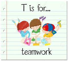 Carta Grupos De Tarjetas T Está Para El Ejemplo De Trabajo En Equipo
